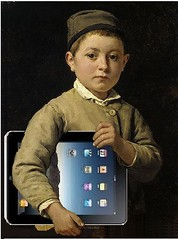 Schulknabe mit iPad, after Albert Anker by Mike Licht, NotionsCapital.com, on Flickr