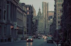 (paul pepera) Tags: street city nyc newyorkcity sunset urban skyline skyscraper buildings downtown cityscape traffic 70200mm 5dmarkii
