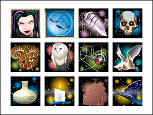 free Black Magic slot game symbols