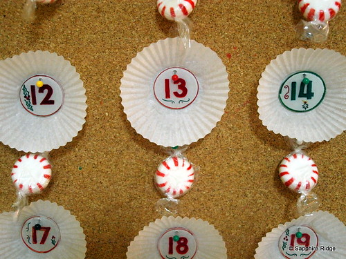 Advent Calendar close-up