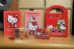 Hello Kitty Stamps Sets & Coloring Books (Jay Tilston) Tags: hello set vintage book kitty mini rubber sanrio stamp coloring product colouring 1976 licenced geniune