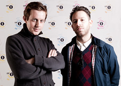Backstage at the BBC - Chase & Status (Gerard Vong) Tags: music musicians umbrella portraits radio 35mm 1 dance dj live union sb600 performance will bbc oxford portraiture saul milton backstage electronic oxfordbrookesuniversity producers kennard sb24 offcameraflash strobist chaseandstatus shootthrough rf602