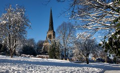 Holy Trinity Church Wentworth (Sadloafer) Tags: trees snow church canon yorkshire wentworth holytrinity rotherham southyorkshire canon50d