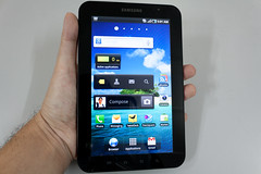 Samsung Galaxy Tab - in the hand
