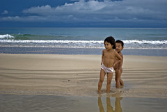 Children at shore (zyans) Tags: beach children shoreline sabangpalawanphilippines philippineexploration