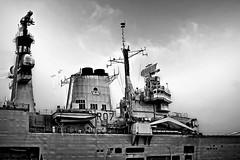 HMS Ark Royal (ShrubMonkey (Julian Heritage)) Tags: bw mono ship aircraft navy historic portsmouth aircraftcarrier naval arkroyal base carrier dockyard royalnavy hmsarkroyal r07