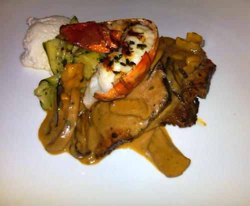 Grilled Short Ribs with Deconstructed Lobster Ravioli