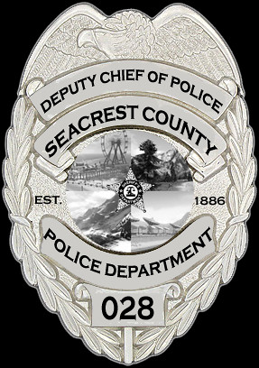 Seacrest County Police Department Deputy Chief Of Police Badge
