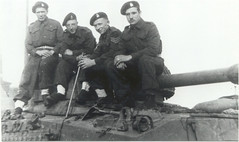 Tank crew (Daibhidh1) Tags: bcd britishcolumbiadragoons clarencesmith holland1945 canadianheroes wwiitanks shermantanks bobstutt budjones rolfstuart victoryinholland 9tharmoured