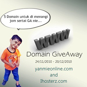 Domain GiveAway dari Yanmieonline.com Dan Ihosterz.com