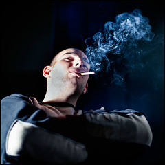 tall square smoker (andreas gessl) Tags: portrait male guy pose square focus cigarette tall smoker smok