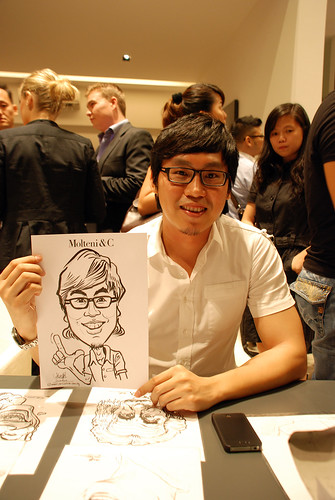 Portrait & Caricature live sketching for Molteni & C - 5