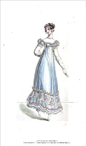 english hat fashion vintage costume bonnet regency fashionplate headwear millinery 1818 balldress