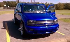my kandy blue thang (everybodyhatescj) Tags: blue inch candy wheels trailblazer slabs wirewheels swangas 30spoke rimswirewheelsswangas30spoke30spokewheels