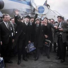 Beatles New York's Kennedy Airport Feb 7, 1964 (Don n Kathy's Stream) Tags: newyork am pan 1964 thebeatles kennedyairport johnpaulgeorgeringo