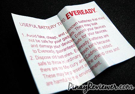 Eveready useful battery tips - PinayReviewer.com