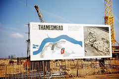 Thamesmead the beginning (John A King) Tags: work beginning 1967 starts thamesmead hording