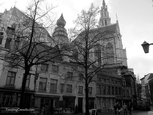 Streets of Antwerp in B&W