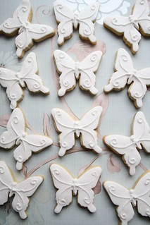 Butterfly cookies by Cotton and Crumbs