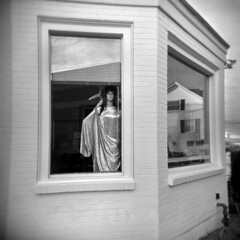 Tax Shelter (LowerDarnley) Tags: mannequin ma holga stoneham ladyliberty 120n incometaxoffice