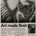 Newspaper article for 'Fleshly Gestures,' solo exhibition 2008