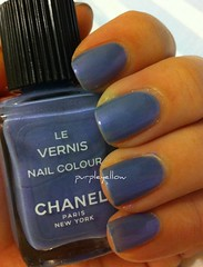 Chanel Iridescent (purple yellow) Tags: blue nail polish iridescent chanel vernis