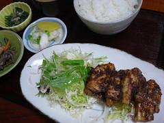 一那「豚バラ味噌炒め定食」(680円)