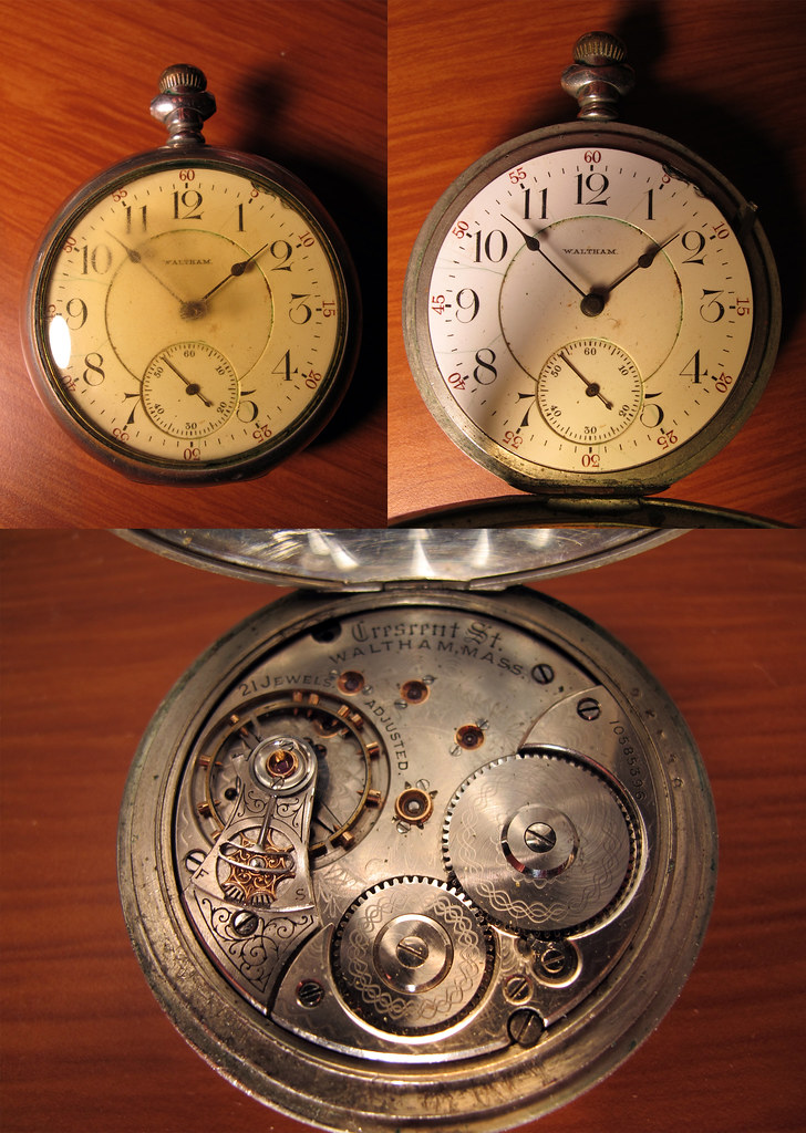Waltham Crescent St Pocket Watch