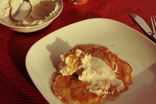 frühstück: fluffy pancakes von jamie oliver