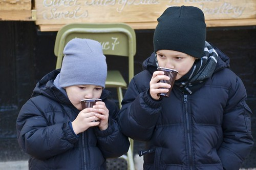 Hot Chocolate in Luxembourg Gardens