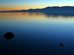 Sunset from North Shore Yacht Club (tanngrisnir3) Tags: california blue sunset sky water club landscape rocks peace yacht north panasonic shore zen dmc saltonsea northshoreyachtclub lx5