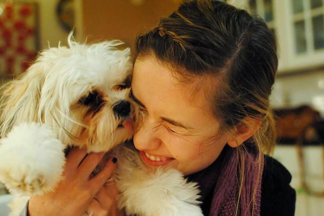 puppy-cuddling/slobbering