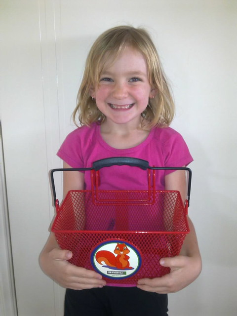 hannah with her prize basket
