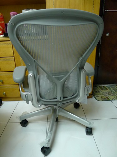 Aeron chair-Herman Miller [美灰版] 後照