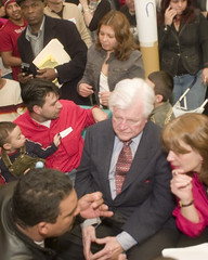 Senator Kennedy at New Bedford Raids, 2007