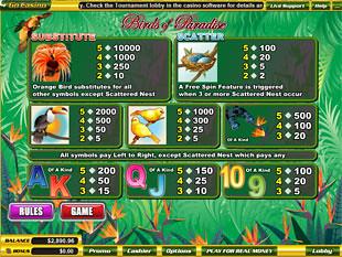 free Birds of Paradise slot mini symbol