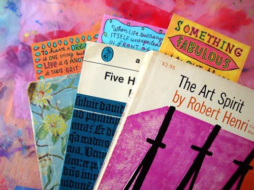 mini doodle-bookmarks