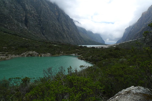 Lake Orconcocha (front), Lake Chinancocha (back) - Huascaran National Park - Peru