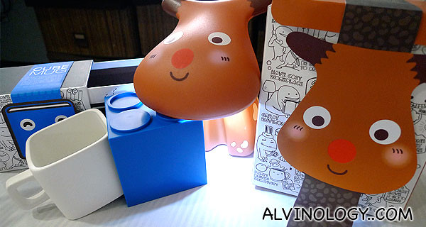 Action City merchandises - the reindeer lamp is perfect for Christmas