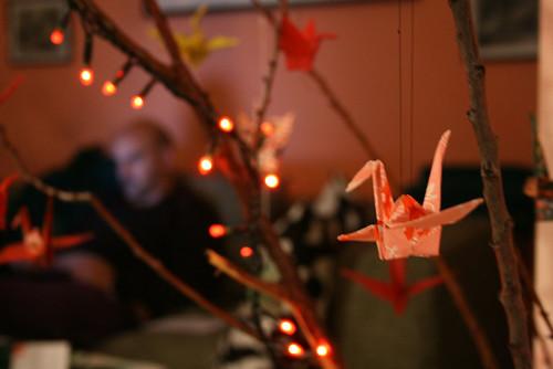 albero delle gru di carta