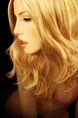 Illusions (ilina s) Tags: pink portrait woman yellow closeup warm profile makeup blond 3amodelsshots