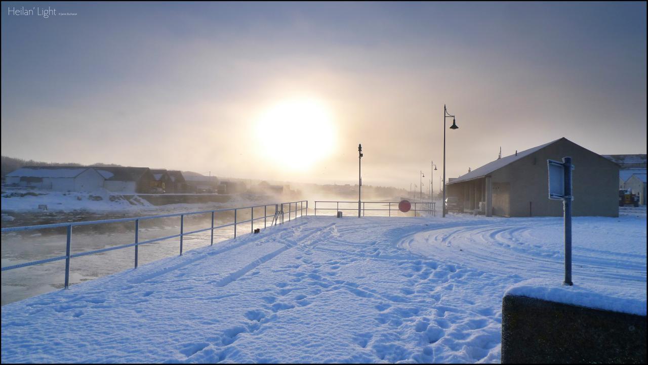 Thurso Harbour With Sea Smoke