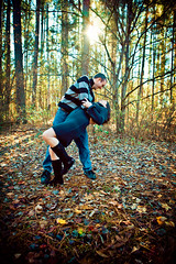 A Loving Look Into Each Others Eyes... (lunahzon) Tags: morning fall sc leaves loving outdoors happy engagement nc movement couple manwoman dancing sweet fallcolors deadleaves younglove naturallight sunburst gazing playful vignetted textured highart bluelight dipping highfashion fiances lakewylie esession earlydecember charlottearea sunpeekingthroughthetrees lunahzonphotography lookingatoneanother lakenormanbased