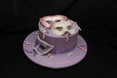 Mask Cake (Designer Cakes By Effie) Tags: birthday cake crystals mask chocolate fondant cachous