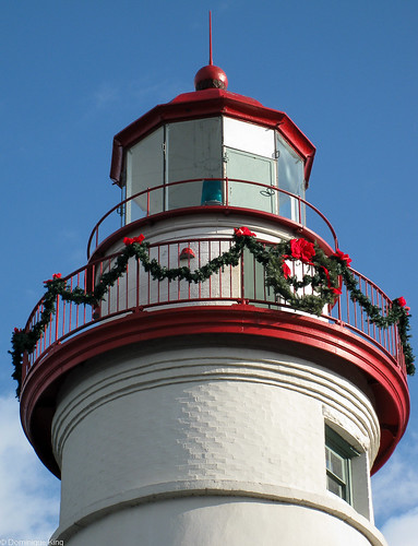 Marblehead Ohio lighthouse Christmas