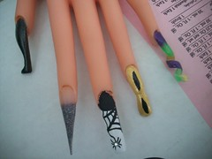 Nail art 3 (Bretagne_Revenge) Tags: black green art point acrylic purple nail swirl