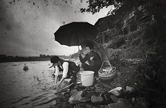 Image10 () Tags: china travel art love film water kodak couples contax g2   blackwhitephotos