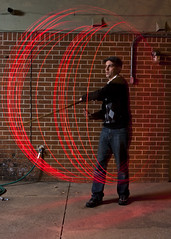 Spinning Red (Chase Hoffman) Tags: light red lightpainting color me night self canon myself eos colorado wideangle boulder staff bo canon1740mmf4lusm canonef1740mmf4lusm strobe lightpaint bostaff strobist 40d chasehoffman 580exii canoneos40d canonspeedlite580exii chasehoffmanphotography