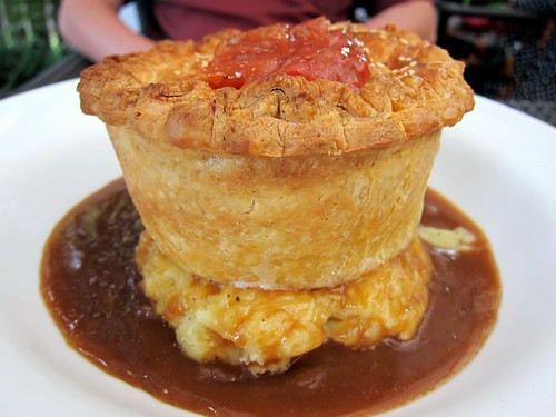 Mediterranean Chicken Pie with Mash and Gravy