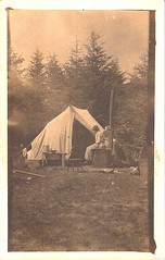 in camp ~ (johncurtisrea) Tags: camp woman rppc